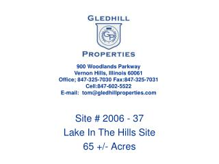 Site # 2006 - 37 Lake In The Hills Site 65 +/- Acres