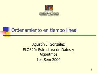 Ordenamiento en tiempo lineal