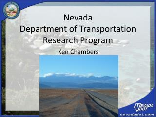 Nevada  Department of Transportation Research Program