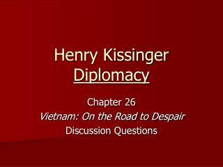 Henry Kissinger Diplomacy