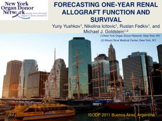 Forecasting one-year renal allograft function and survival