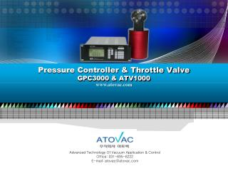 Pressure Controller & Throttle Valve GPC3000 & ATV1000