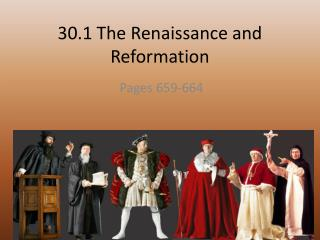 30.1 The Renaissance and Reformation