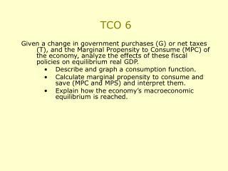 TCO 6