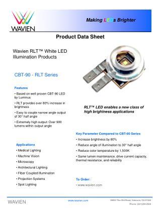 Wavien RLT™ White LED Illumination Products