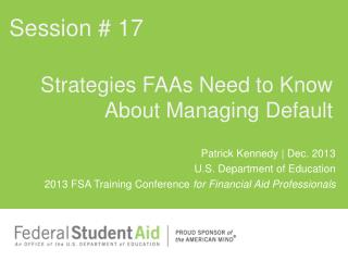 Strategies FAAs Need to Know About Managing Default