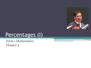 Percentages (I)