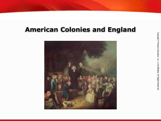 American Colonies and England
