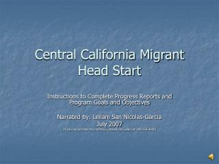 Central California Migrant Head Start