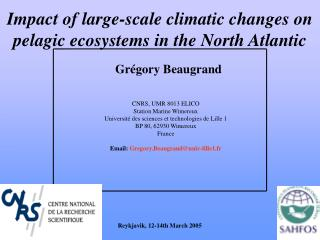 Impact of large-scale climatic changes on pelagic ecosystems in the North Atlantic
