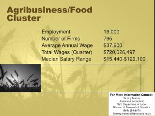 Agribusiness/Food Cluster
