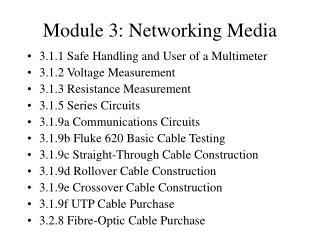 Module 3: Networking Media