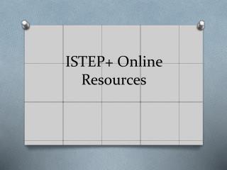 ISTEP+ Online Resources