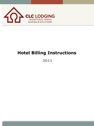 Hotel Billing Instructions