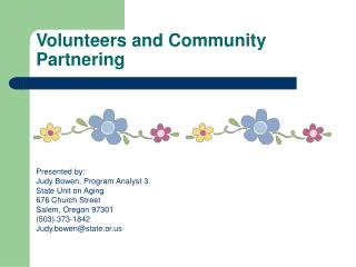 Volunteers and Community Partnering