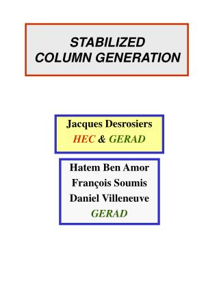 STABILIZED  COLUMN GENERATION