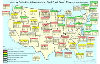 Mercury Emissions Allowance from Coal-Fired Power Plants  (In pounds per year)