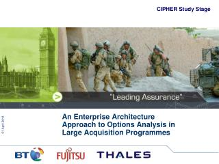 An Enterprise Architecture Approach to Options Analysis in Large Acquisition Programmes