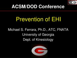 Prevention of EHI