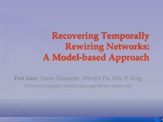Recovering Temporally Rewiring Networks:  A Model-based Approach