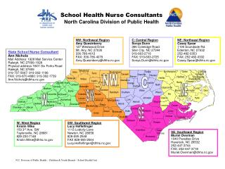 N.C. Division of Public Health – Children & Youth Branch – School Health Unit