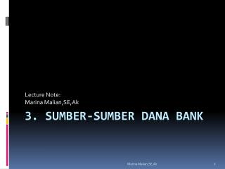 3. Sumber-Sumber Dana Bank