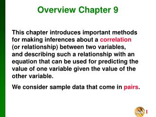 Overview Chapter 9