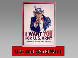 U.S. and World War I