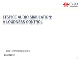 LTSpice audio simulation: A loudness control