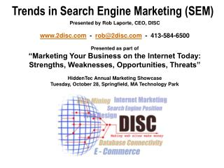Trends in Search Engine Marketing (SEM)