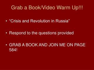 Grab a Book/Video Warm Up!!!