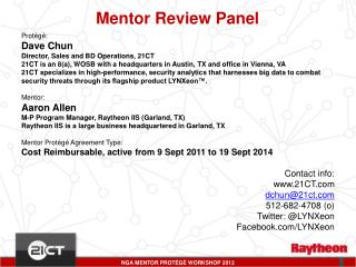 Mentor Review Panel