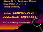 Lindell s Lecture Notes                     CHAPTERS 3  4 B                          supplement                     YOUR