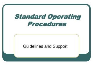 Standard Operating Procedures