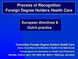 European directives & Dutch practice