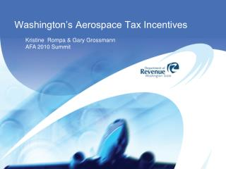 Washington's Aerospace Tax Incentives