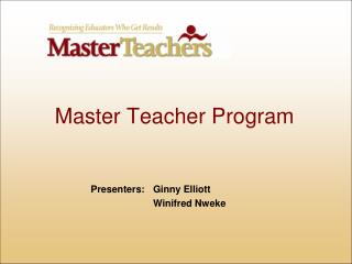 Master Teacher Program