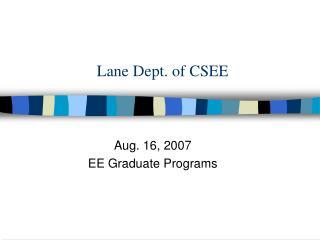 Lane Dept. of CSEE
