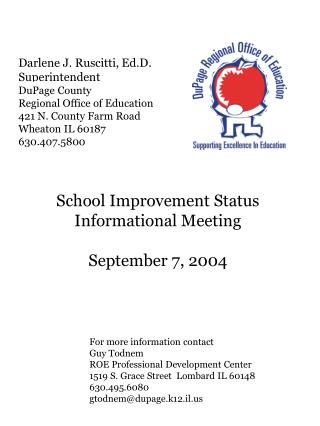 Darlene J. Ruscitti, Ed.D. Superintendent