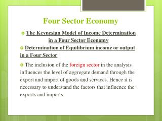 Four Sector Economy