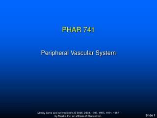 PHAR 741