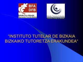 """""""INSTITUTO TUTELAR DE BIZKAIA BIZKAIKO TUTORETZA ERAKUNDEA"""""""