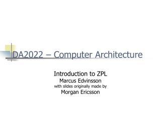 DA2022 – Computer Architecture