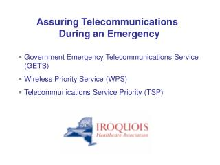 Government Emergency Telecommunications Service (GETS) Wireless Priority Service (WPS)