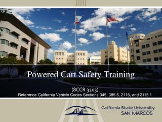 Powered Cart Safety Training