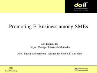 Promoting E-Business among SMEs