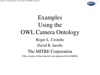 Examples Using the OWL Camera Ontology