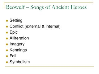 Beowulf – Songs of Ancient Heroes
