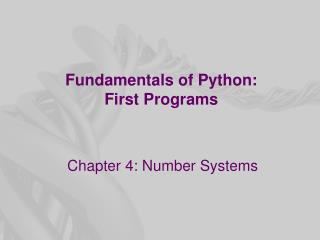 Fundamentals of Python: First Programs