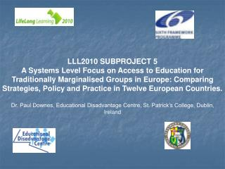 LLL2010 SUBPROJECT 5